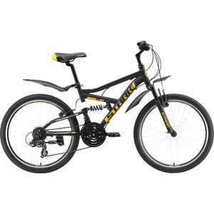 цена на Велосипед Stark 19 Rocket 24.2 FS V черный/оранжевый/голубой