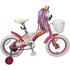 Велосипед Stark 19 Tanuki 14 Girl розовый/белый/желтый