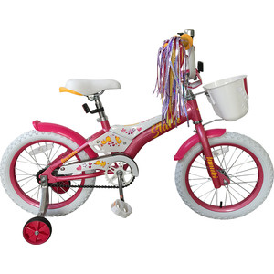Велосипед Stark 19 Tanuki 16 Girl розовый/белый