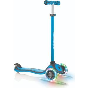 Самокат 3-х колесный Globber PRIMO PLUS LIGHTS COLOR голубой (во5468-1) самокат urban art primo v2