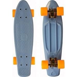 """Скейтборд Triumf Active 22"""" TLS-401 синий с оранжевыми колесами (во2917)"""