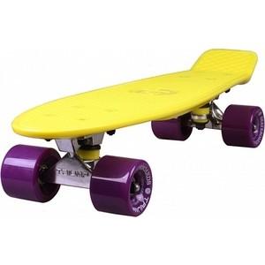 Скейтборд Triumf Active 22 TLS-402 желтый с филетовыми колесами century tls a01