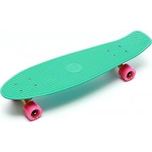 Скейтборд Triumf Active 22 TLS-402 мятный с розовыми колесами century tls a01