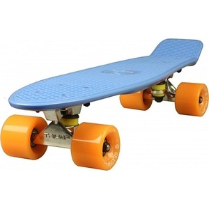 """Скейтборд Triumf Active 22"""" TLS-402 синий с оранжевыми колесами"""