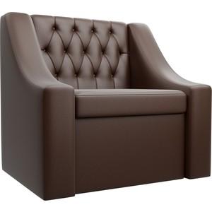 Кресло АртМебель Мерлин экокожа коричневый