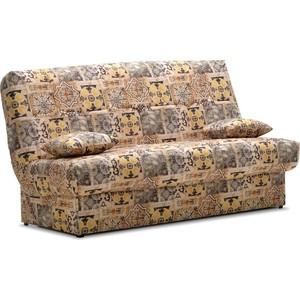 Диван Ладья Вернисаж клик-кляк темно-бежевый прямой диван первый мебельный клик кляк