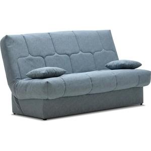 Диван Ладья Вернисаж клик-кляк серо-бирюзовый прямой диван первый мебельный клик кляк