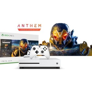 Игровая приставка Microsoft Xbox One S white + игра Anthem backpack xbox one