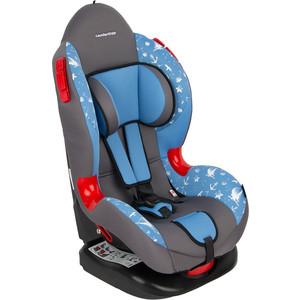 Автокресло Leader Kids 9-25 кг Драйв, 1-2 гр., серый+голубой принт GL000409907 автокресло baby care upiter без вкладыша гр i ii iii черный серый