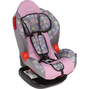 Автокресло Leader Kids 9-25 кг Драйв, 1-2 гр., розовый+серый принт GL000409903