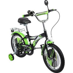 Велосипед 2-х колесный Leader Kids ЧЕРНЫЙ+ЗЕЛЕНЫЙ GL000143733