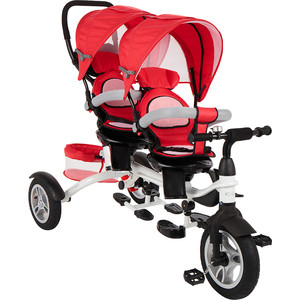 Велосипед 3-х колесный Capella TWIN TRIKE 360, RED (красный), 2019 GL000957392