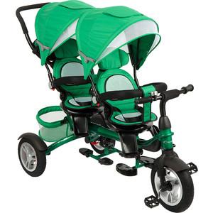 Велосипед 3-х колесный Capella TWIN TRIKE 360, GREEN (зеленый), надув. колеса, 2019 GL000957396