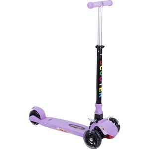 Самокат 3-х колесный Leader Kids (фиолетовый) GL000373865 самокат 2 х колесный amigo torino sport фиолетовый