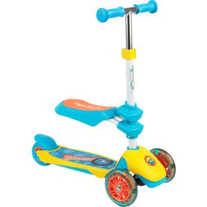 Фото - Самокат 3-х колесный Capella PUPPY blue+yellow, (син+желт) GL000568108 72mm 85a outdoor roller skates brake pulley wheel blue black yellow