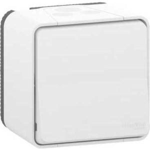Переключатель Schneider Electric ОП Mureva Styl IP55 белый MUR39021 розетка schneider electric mureva styl оп с защитными шторками с заземлением цвет антрацит mur36034