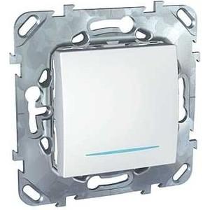 Переключатель одноклавишный Schneider Electric механизм СП UNICA проходн. с подсветкой белый MGU5.203.18NZD