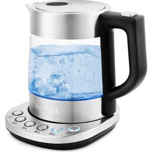 Чайник электрический KITFORT KT-648 чайник электрический kitfort kt 609 серебристый черный