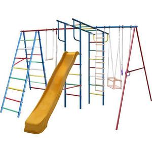 Детский комплекс c качелями Вертикаль Вертикаль-А+П дачный МАКСИ с горкой 3,0 м (2684)