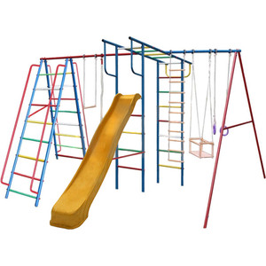 Детский комплекс c качелями Вертикаль Вертикаль-А1+П дачный МАКСИ с горкой 3,0 м (2683)