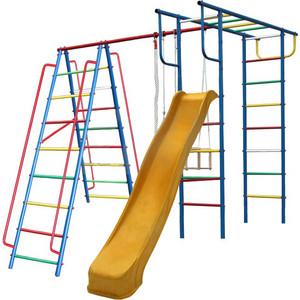Детский спортивный комплекс Вертикаль Вертикаль-А1+П дачный с горкой 3,0 м (2682) качелями