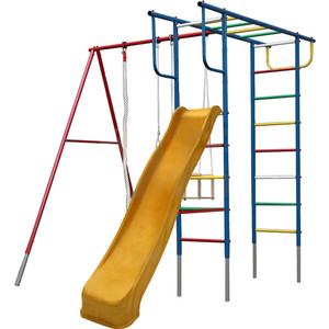 Детский комплекс c качелями Вертикаль Вертикаль-П дачный с горкой 3,0 м (2681) игровой комплекc romana карусель 3 3 21 01 дачный букварь с качелями