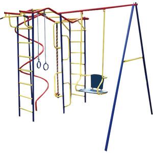 Детский комплекс c качелями Пионер Вираж дачный со спиралью (2664)