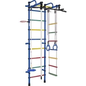 Детский спортивный комплекс Формула здоровья Лира-3К Плюс синий/радуга детский спортивный комплекс формула здоровья жирафик 1а плюс синий радуга