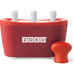 Набор для приготовления мороженого Zoku Triple Quick Pop Maker (ZK101-RD) zoku набор мороженого triple quick pop maker оранжевый zk101 or zoku