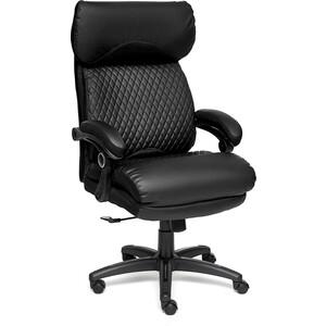 Кресло TetChair CHIEF кож/зам/ткань, черный/черный стеганный/черный 36-6/36-6/11