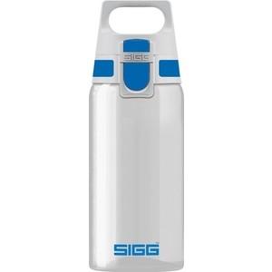 Бутылка для воды 0.5 л Sigg Total Clear One (8693.00) бело-голубая декоративная наволочка asabella d3 2 бело голубая