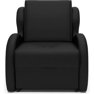 Кресло-кровать Mebel Ars Атлант черный кожзам ППУ
