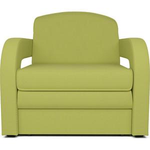 Кресло-кровать Mebel Ars Кармен 2 зеленая ППУ скамья 2 визан зеленая