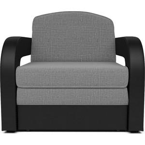 лучшая цена Кресло-кровать Mebel Ars Кармен 2 рогожка серая ППУ