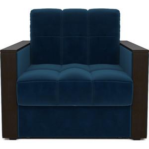 цена Кресло-кровать Mebel Ars Техас темно - синий ППУ онлайн в 2017 году