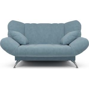 Диван Mebel Ars Гольф голубой (клик - кляк) ППУ прямой диван первый мебельный клик кляк