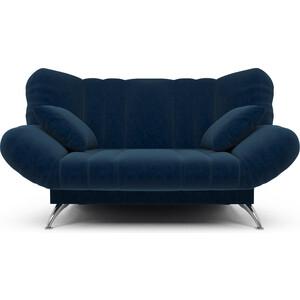 Диван Mebel Ars Гольф темно - синий (клик - кляк) ППУ прямой диван первый мебельный клик кляк