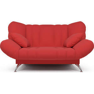 Диван Mebel Ars Гольф красный (клик - кляк) ППУ прямой диван первый мебельный клик кляк