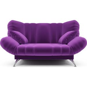 Диван Mebel Ars Гольф фиолет (клик - кляк) ППУ прямой диван первый мебельный клик кляк