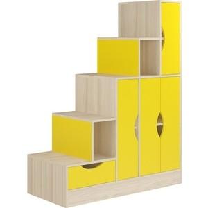Лестница-стеллаж Атлант Карамель 44 ясень шимо светлый, желтый
