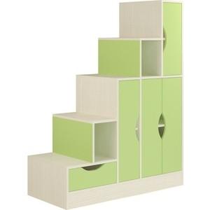 Лестница-стеллаж Атлант Карамель 44 бодега светлый, зеленый