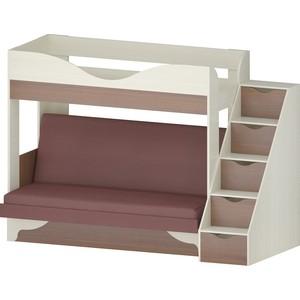 Кровать Атлант Латте 77-1 Neo Plum, бодега светлый, орех донской