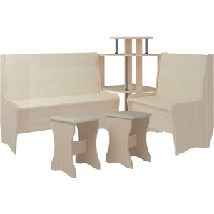 Кухонный набор Атлант Тэссера без стола punto - бежевый, дуб девонширский