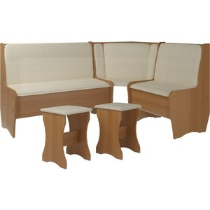 Кухонный набор Атлант Эна без стола punto - бежевый, вишня оксфорд