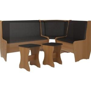 Кухонный набор Атлант Эна без стола punto - коричневый, вишня оксфорд