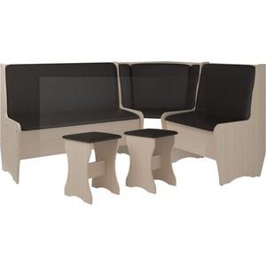 Кухонный набор Атлант Эна без стола punto - коричневый, дуб девонширский