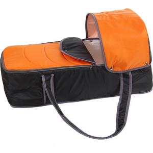 Люлька-переноска Карапуз для коляски 0175 оранжево-серая