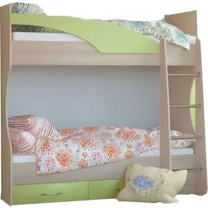 Детская кровать Росток мебель Лиза-1 двухъярусная яблоко детская мебель во владимире