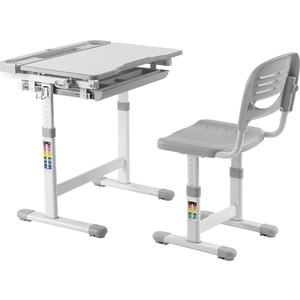 Комплект парта + стул трансформеры FunDesk Cantare grey