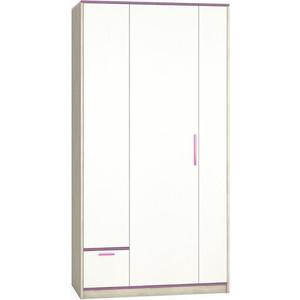 Шкаф Моби Гольф 200 белый матовый/перламутр черешня